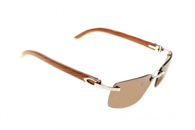 2b1fcd4f197 óculos de sol CARTIER com madeira preciosa