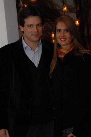 Cesar Portiolli e a mulher Suzana Portiolli