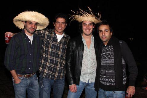 Felipe Aversa, Dado Ribeiro, Guga Guizelini e Bruno Dias