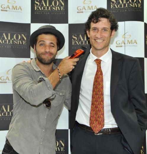Bruno Gagliasso e Felipe Leonard, diretor de GA.MA Italy