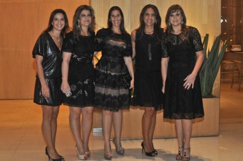 Fernanda Luz, Flavia Kujawski, Renata Zitune, Aline Zarouk eVivianne Simoes
