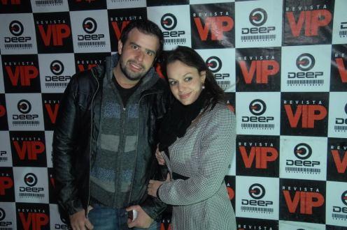 Adriano Soria (Faculdades Sumare) e Carol Gaspari