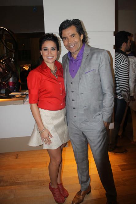 A arquiteta Mayra Lopes e o apresentador Marcio Moraes