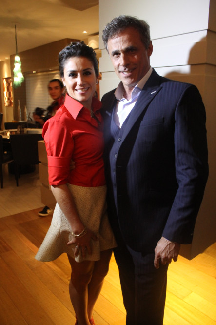 A arquiteta Mayra Lopes e o ator Oscar Magrini