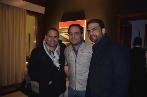 Vinicius Garcia, Ricardo Lea¦âo e Rafael Setrak