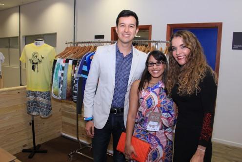 Samuel Queiroz, Luciana Rodrigues e Sandra Nepomuceno_Foto byFabio Peixoto