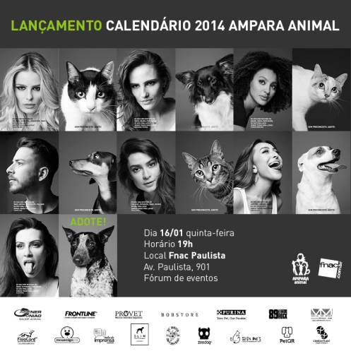 Lançamento Calendário 2014 Ampara Animal