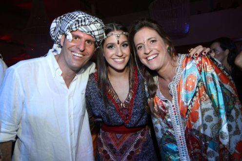 Erika Jereissati Zullo, Paulo Zullo e a filha do casal