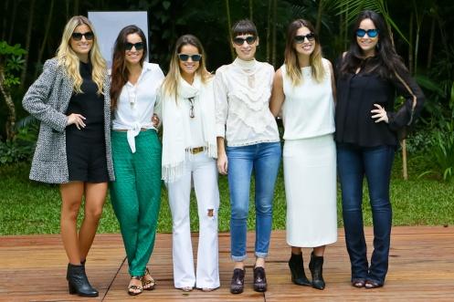 Novo time de Collabs da Vogue Eyewear em 2014_Dandynha Barbosa,Renata Vanzetto, Beta Whately, Camila Fremder, Patricia Mattos e LuTranchesi