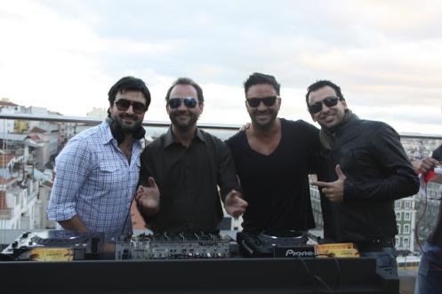 Gui Di Filippe, Beto Ribeiro, Hugo Tabaco e Raul Calddeira