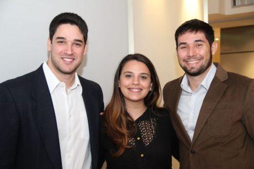 Felipe Dias, Renata Ferraz e Lucas Borges