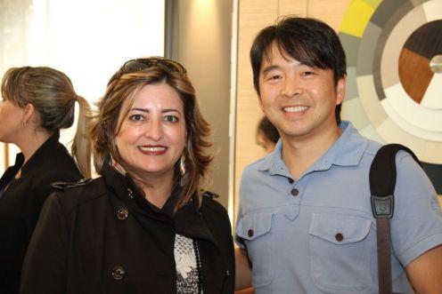 Heloiza Alcoforado e Haruo Mikami