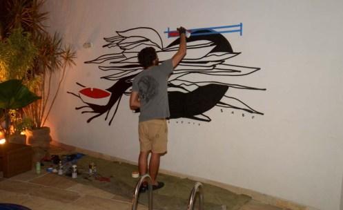 grafite na Casa Glamurama Rio