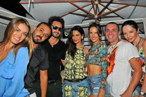 Talita Correa, Roger Rodrigues , Rico Mansur , Fernanda Motta, Alessandra Ambrosio, Matheus Mazzafera e Renata Maciel